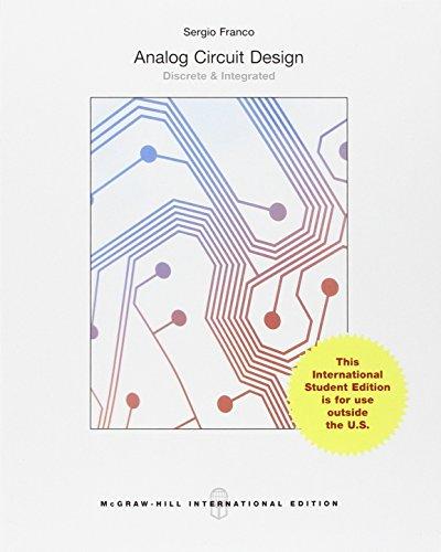 9781259252716: Analog Circuit Design: Discrete & Integrated (Int'l Ed)
