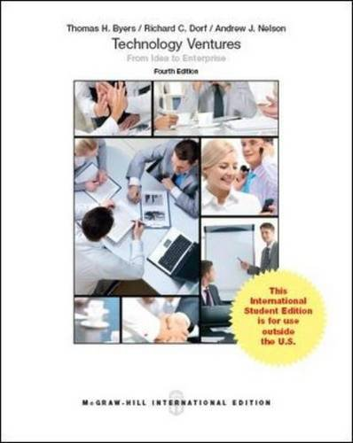 9781259252754: Technology Ventures: From Idea to Enterprise (Int'l Ed)