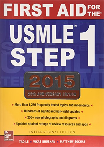 9781259252914: FIRST AID FOR THE USMLE STEP 1, 2015 (Int'l Ed)