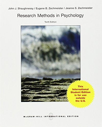 9781259252969: Research Methods in Psychology (Int'l Ed)