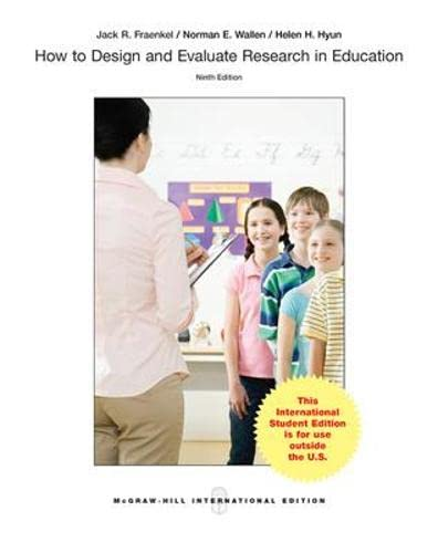 9781259253928: How to Design and Evaluate Research in Education