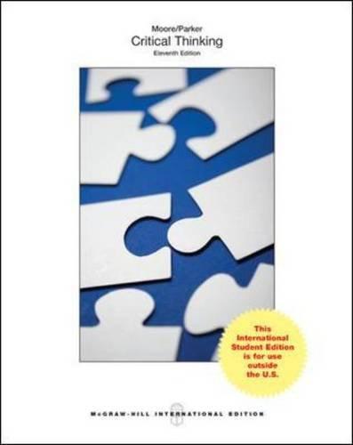 9781259253959: Critical Thinking (Int'l Ed)