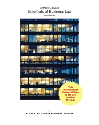 9781259254055: Essentials of Business Law