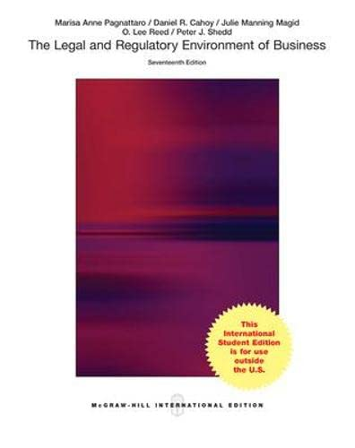 9781259254116: The Legal and Regulatory Environment of Business