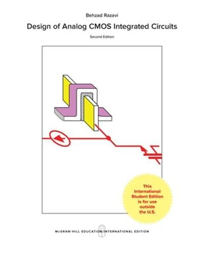 9781259255090 Design Of Analog Cmos Integrated Circuits