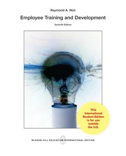 9781259255434: Employee Training & Development