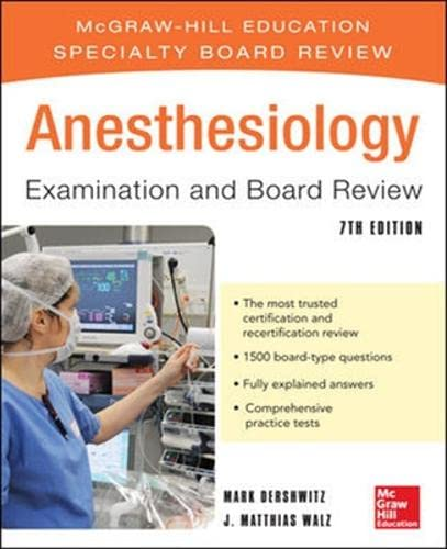 9781259255571: Anesthesiology Examination and Board Review 7/E (Int'l Ed)