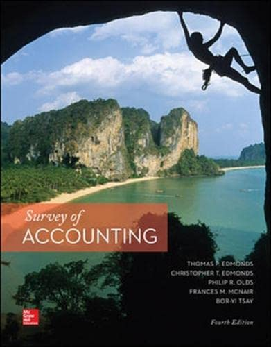 9781259255748: Survey of Accounting (Int'l Ed)