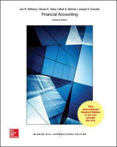 Financial Accounting (Paperback): Jan R. Williams, Susan F. Haka, Mark S. Bettner