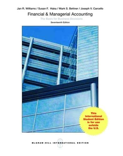 9781259255830: Financial & Managerial Accounting (Int'l Ed)