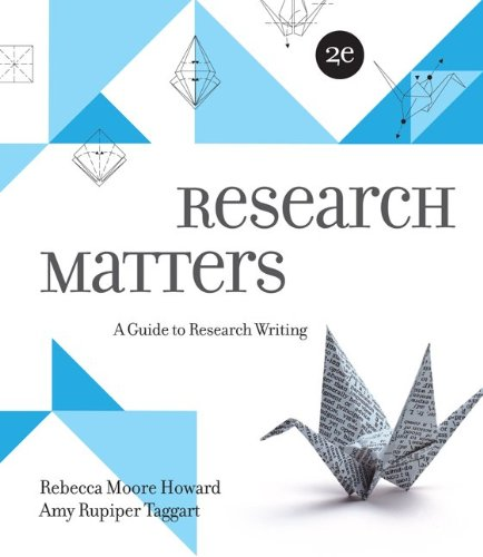 9781259276873: Research Matters 2e with Connect Composition for Research Matters 2e