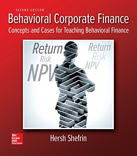 9781259277207: Behavioral Corporate Finance (The Mcgraw-hill/Irwin Series in Finance, Insurance and Real Estate)