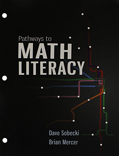 9781259278723: Pathways to Math Literacy with 18 Week Aleks Access Card