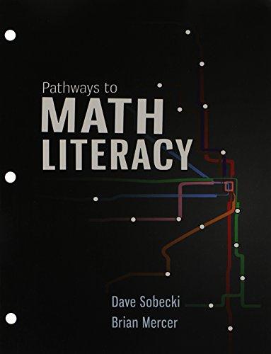 Pathways to Math Literacy with 18 Week: David Sobecki