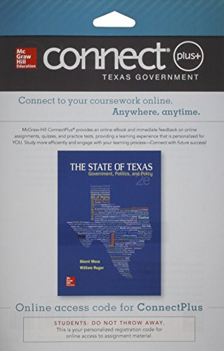 9781259279188: Connect Access Card for The State of Texas: Government, Politics, and Policy