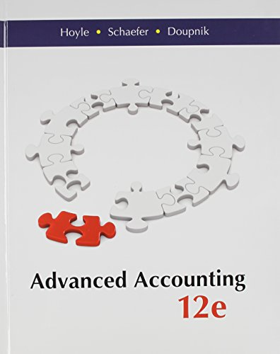 9781259283567: Advanced Accounting with Connect Access Card
