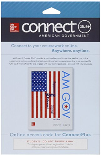9781259284212: Connect 1-Semester Access Card for AM GOV 2015-2016
