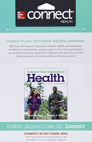 9781259284359: Connect Access Card for Core Concepts in Health Brief
