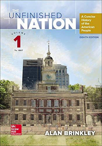 9781259287121: The Unfinished Nation: A Concise History of the American People Volume 1