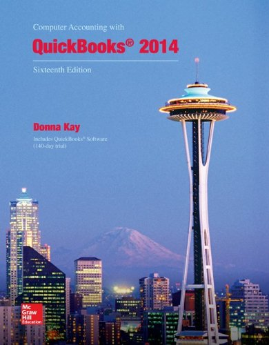 9781259289149: Computer Accounting with QuickBooks 2014