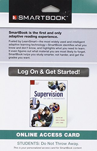 9781259289255: SmartBook Access Card for Supervision
