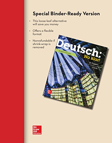 9781259289460: LOOSELEAF FOR DEUTSCH: NA KLAR AN INTRODUCTORY GERMAN COURSE (STUDENT EDITION)