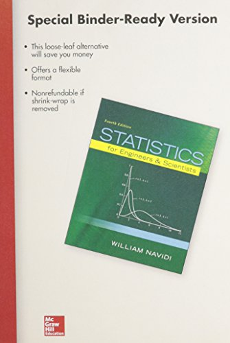 9781259290558: Package: Loose Leaf for Statistics for Engineers and Scientists with 1 Semester Connect Access Card