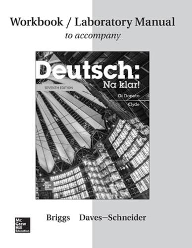 9781259290831: Workbook/Lab Manual for Deutsch: Na klar!