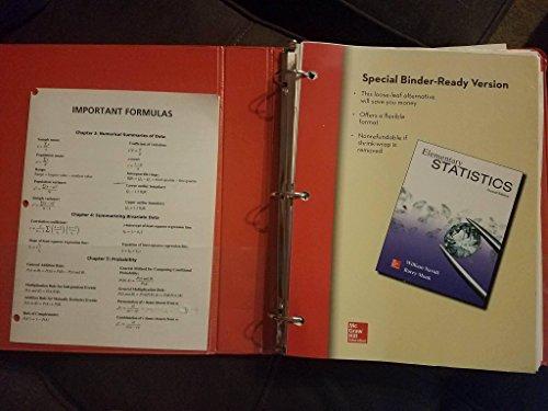 Loose Leaf Version for Elementary Statistics: Navidi, William; Monk,