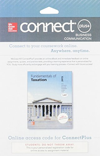 9781259293122: Connect 1-Semester Access Card for Fundamentals of Taxation 2015 Edition