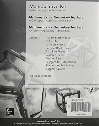 9781259293474: Manipulative Kit for Mathematics for Elementary Teachers