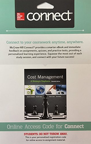 9781259293740: Connect 2 Semester Access Card for Cost Management: A Strategic Emphasis