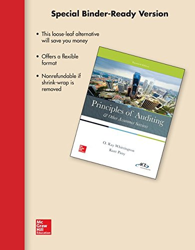 9781259295461: Loose-Leaf for Principles of Auditing & Other Assurance Services