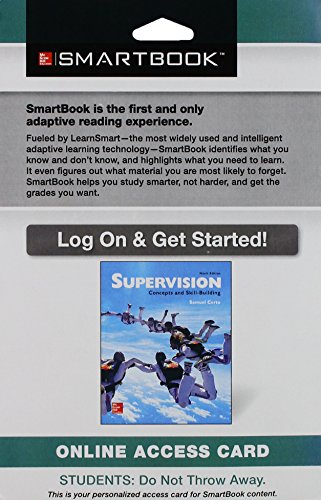 9781259296925: Smartbook Access Card for Supervision: Concepts and Skill-Building