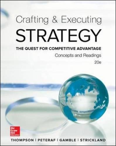 Crafting and Executing Strategy (Paperback): III A.J. Strickland
