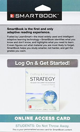 9781259297816: SmartBook Access Card for Crafting & Executing Strategy: Concepts and Readings