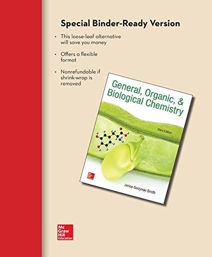 9781259298431: Loose Leaf for General Organic & Biological Chemistry