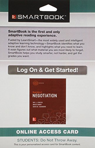 9781259299025: SmartBook Access Card for for Essentials of Negotiation