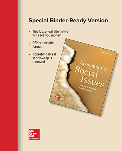 9781259300103: Loose-Leaf for Economics of Social Issues
