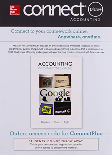 9781259300271: Connect Access Card for Accounting Information Systems