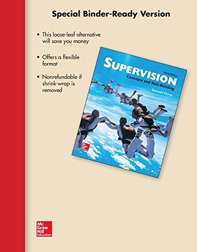9781259302305: Loose-Leaf for Supervision: Concepts & Skill-Building