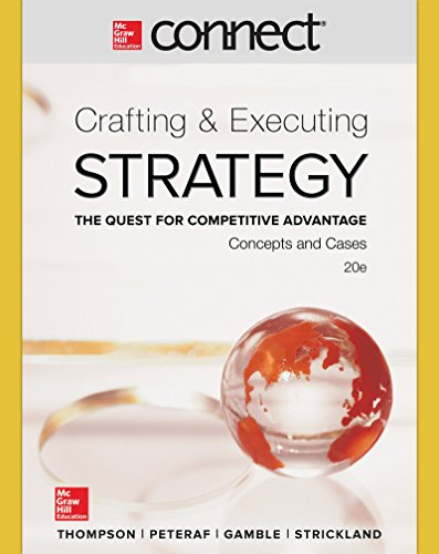 9781259304293: Connect 1 Semester Access Card for Crafting & Executing Strategy: Concepts and Cases