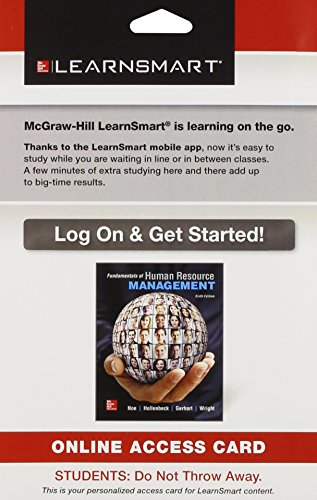 9781259304439: LearnSmart Access Card for Fundamentals of Human Resource Management