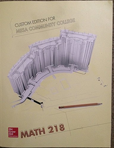 9781259305351: Math 218: Custom Edition for Mesa Community College (MCC) (McGraw Hill)