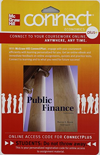 9781259306730: Connect Access Card for Public Finance