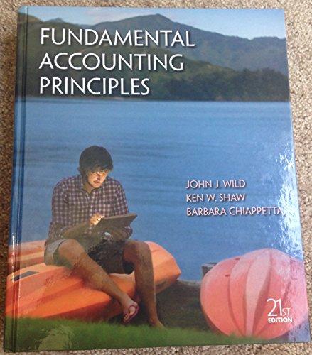 9781259311703: Fundamental Accounting Principles 21st Edition