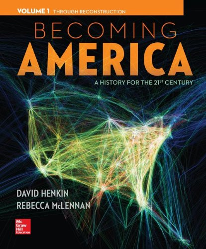 Becoming America Vol 1 w/ 1 Term Connect Plus Access Card: David Henkin