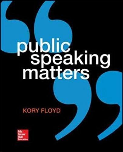 9781259321580: Public Speaking Matters