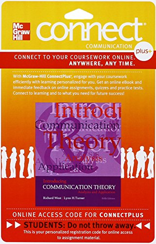 9781259321610: Connect Access Card for Introducing Communication Theory: Analysis and Application