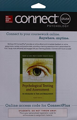 9781259322136: Connect Access Card for Psychological Testing and Assessment - An Introduction to Tests & Measurement